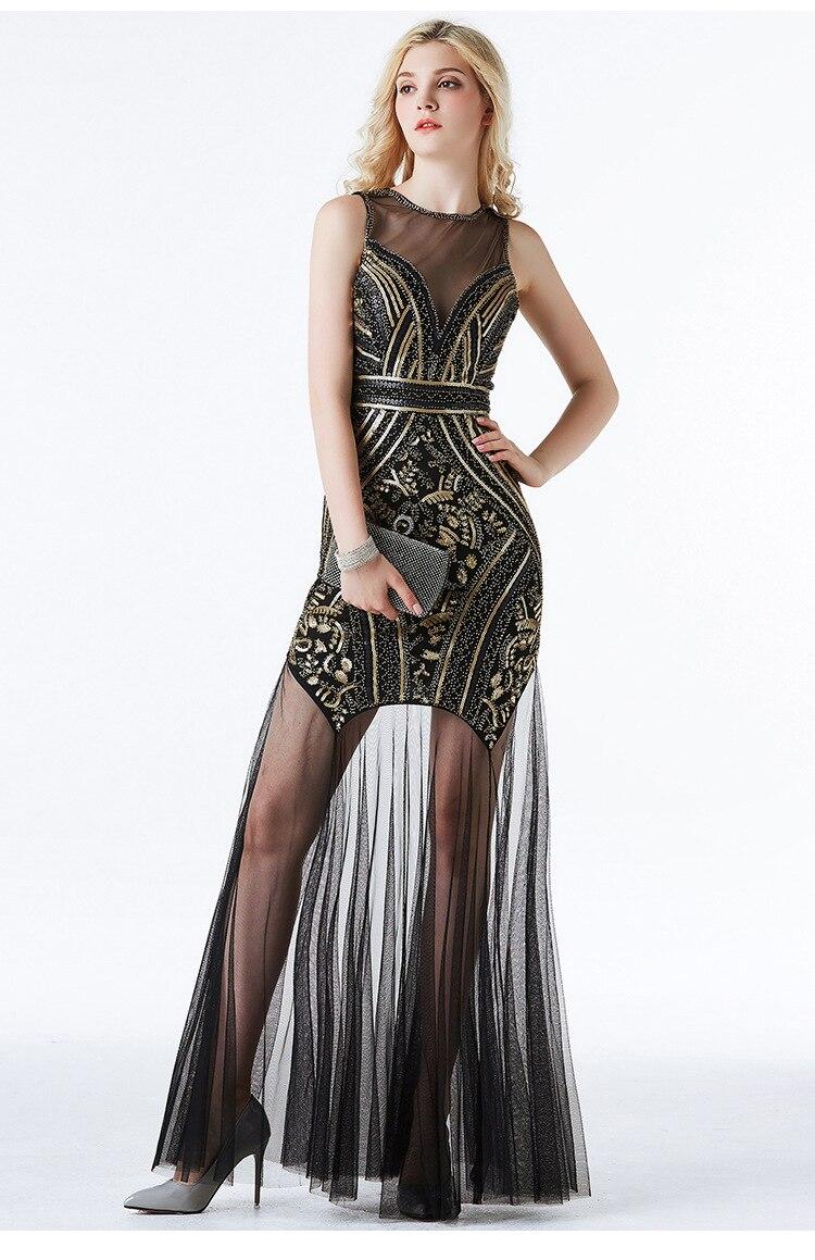 Sequin robes de soirée longue formelle 5 couleurs sequin robes de soirée vestidos de fiesta de noche nouveau style robes de soirée 2019