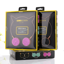 Original Package Cat Ear Headphones With Microphones Cute Girl Music Gaming Headset 3.5mm Jack For Computer Laptop Mobile Phone