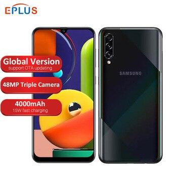 Перейти на Алиэкспресс и купить Глобальная версия 6 ГБ 128 Гб samsung Galaxy A50s A507FN/DS мобильный телефон с двумя sim-картами 6,4 дюйма 4000 мАч Тройная камера заднего вида 48MP 4G телефон