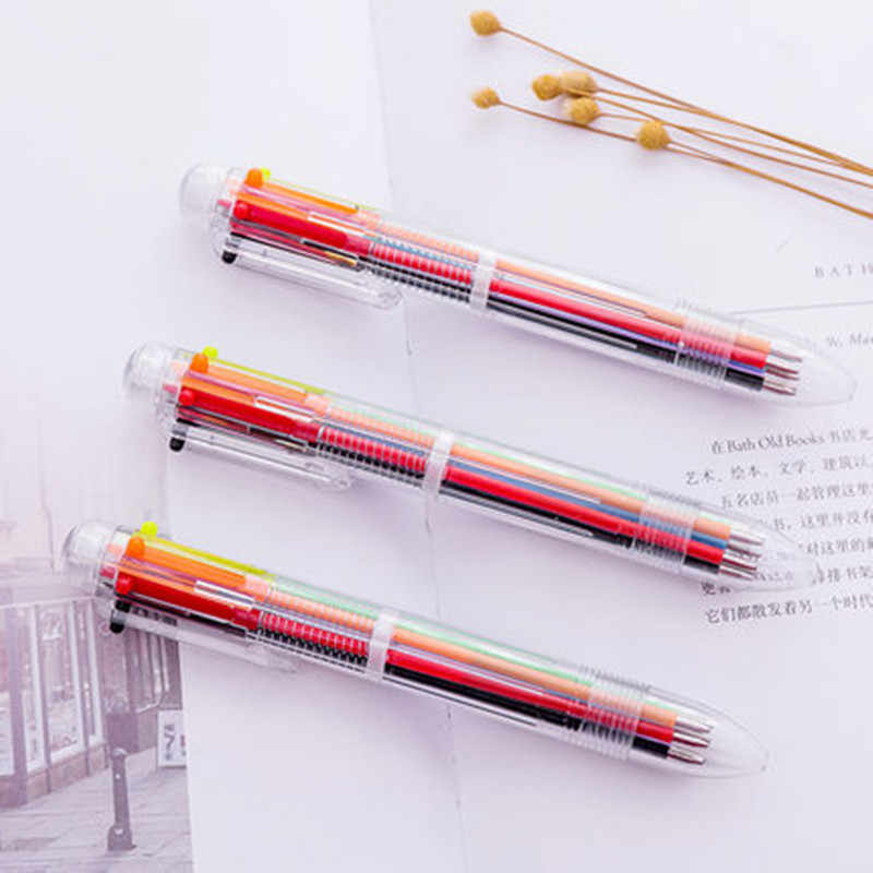 1pcs Sell Six Kinds of Color Gel Pens Student gel Ink Pen School Office Supplies Learning Stationery Wholesale