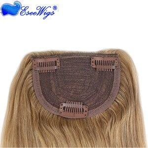 Image 3 - #27 Color Brazilian Human Hair Clip in Hair Bang Full Fringe Short Straight Hair Extension for women 6 8inch