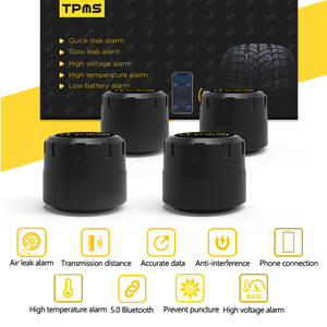 Image 3 - Vuool C01 بلوتوث 5.0 TPMS سيارة نظام مراقبة ضغط الإطارات مع 4 أجهزة استشعار ل iOS شاحن هاتف محمول يعمل بنظام تشغيل أندرويد APP رصد إنذار