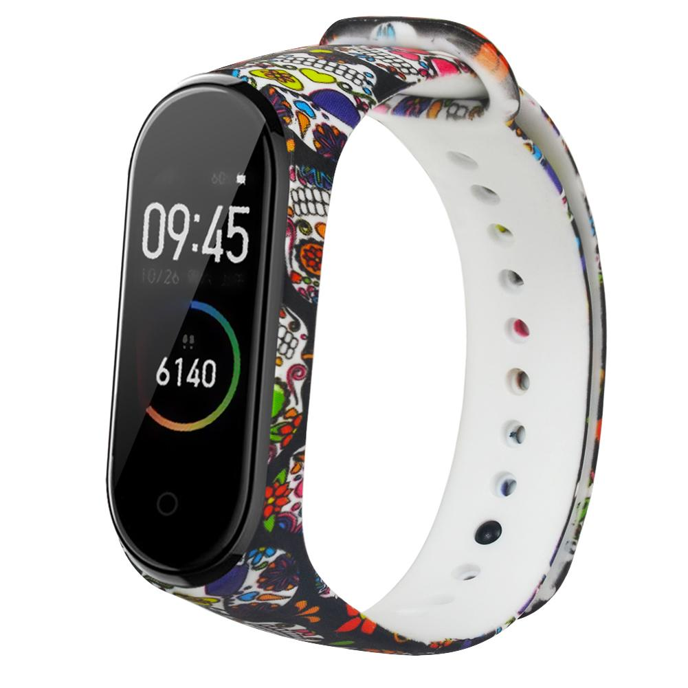 Painted Pattern Smart Bracelet Replacement Strap For Xiaomi Mi Band 4 Miband 3 Silicone Wrist Strap For Xiaomi Mi Band 4