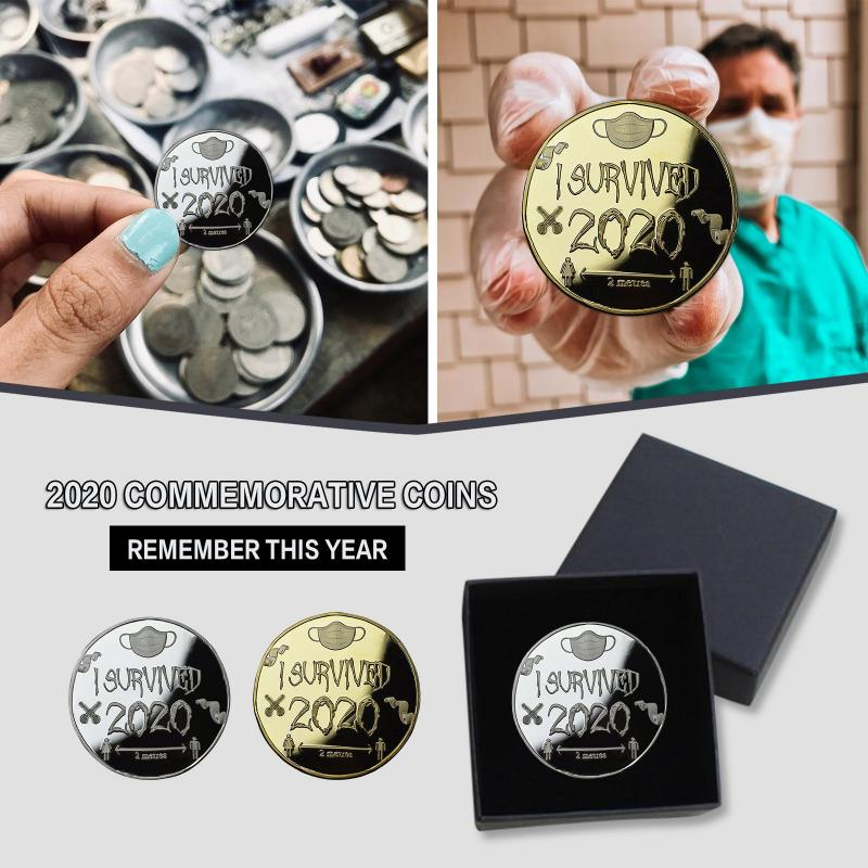 Disaster Survivor Medal Collection Gifts Memento 2021 New Years Gifts With Silver And Gold Color Memorable Gift Badge Parts DIY