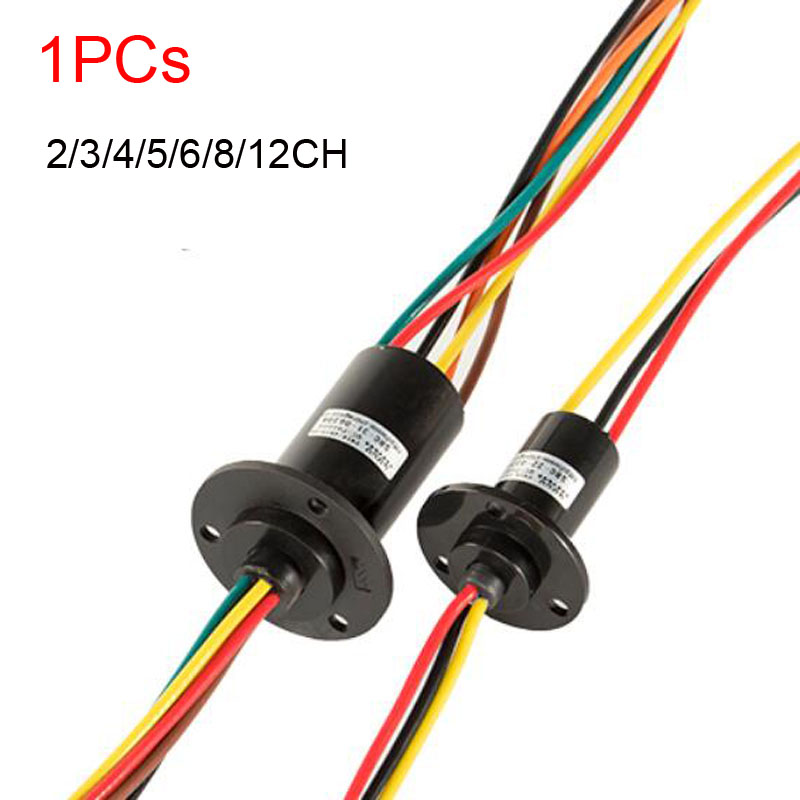 Wind Power Slip Ring 2/3/4/5/6 Channel 5/10/15/30A Rotate Dining Table Slipring Electric Collector Rings Joint SRC-22-0230A