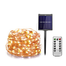 Dimmable 11m/21m/31m/51m  LED Outdoor Solar String Lights Fairy Holiday Christmas Party Garland Solar Garden Waterproof Lights