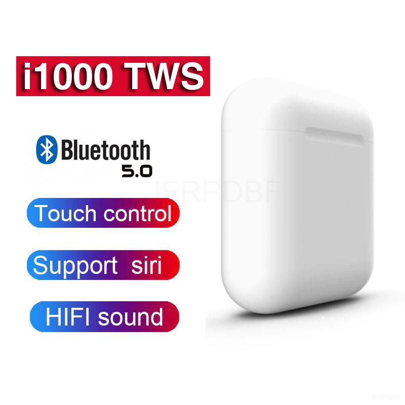 New i1000 <font><b>TWS</b></font> 2019 Pop up Bluetooth <font><b>5</b></font>.0 Headset Wireless Earphones Earbuds Ear Buds 6D Super Bass PK i2000 i3000 i800 i 1000 <font><b>TWS</b></font> image