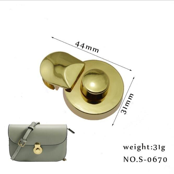(10 Pcs/lot) Luggage Handbag Hardware Accessories High-grade Leather Bag Gourd Lock
