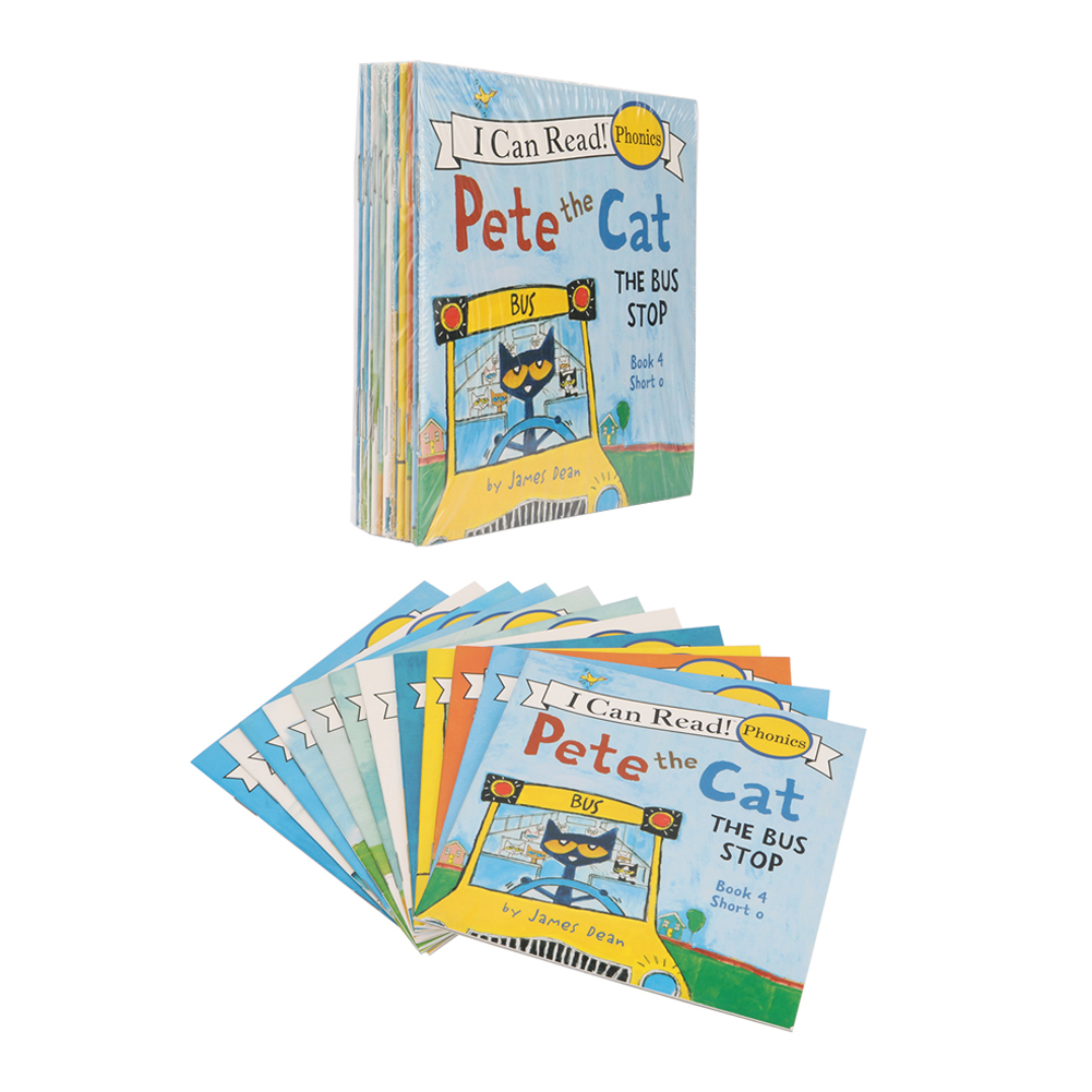 Pete Cat Series Picture Book Children English Picture Book Kids Early Learning Picture Tale Bedtime Story Book 13*13cm 12Pcs/set