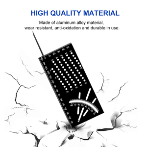 Image 2 - Angolo multifunzionale Righello 45 90 Gradi In Lega di Alluminio Accurata Lavorazione Del Legno Quadrato Angolo di Righello Marcatura Gauge Strumento Falegname