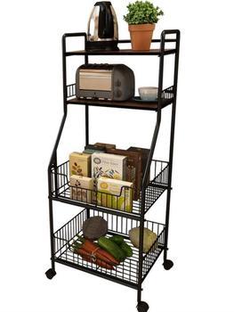 Estantería de cocina, cocina, recipiente para verduras con múltiples niveles de microondas