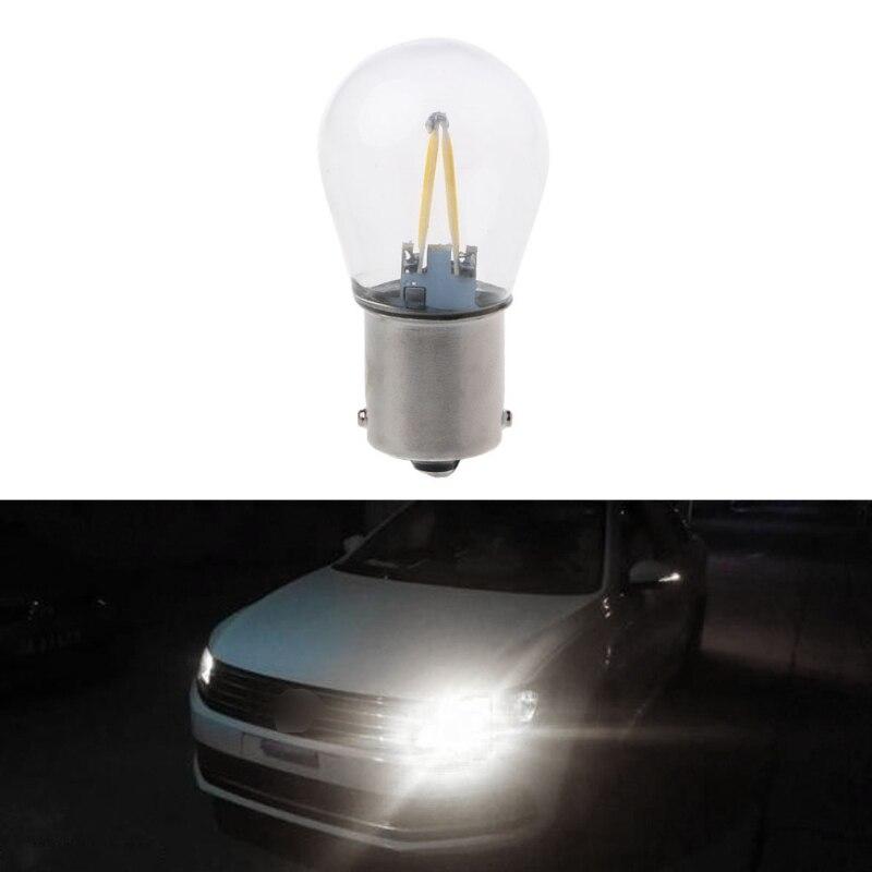 High Quality 1 Pc DC 12V 1156 P21W Ba15s Auto Car Lights Lamp LED COB Light DRL Daytime Running Light Bulb White 2018 New