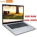 15,6 zoll Laptop 8G RAM 512G 256G 128G SSD Intel j3455 Quad Core Student Computer Ultrabook notebook mit RJ45 Port für Büro