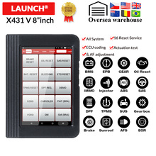 Launch X431 V 8 inch OBD2 diagnose Scanner Voor Volledige systeem 11 Speciale functies Multi taal X 431 V auto scan tool