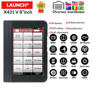 Image 1 - Launch X431 V 8 inch OBD2 diagnostic Scanner For Full system 16 Special functions Multi language X 431 V car scan tool