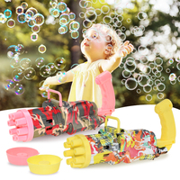Juguete de pistola de burbujas automática para niños, máquina de burbujas eléctrica para exteriores, baño de burbujas mágico, regalo de boda