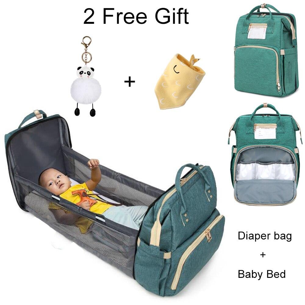 Bolsa de pañales para bebés multifunción de gran capacidad 2 en 1, mochila, bolsas de viaje, portátil, cuna, bolsa de maternidad para bebé, bolsa de pañales para mamá Mono sin mangas para niño recién nacido, sin mangas, con motivos florales, ropa para niña bebé
