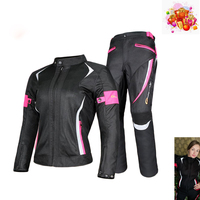 Women Motorcycle Jacket Breathable Mesh Touring Motorbike Riding Tops Motorbike Clothing Protective Gear FOR ymaha honda suzuzki