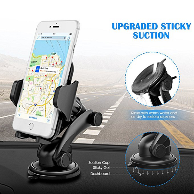 DuDa <font><b>Mobile</b></font> <font><b>Phone</b></font> <font><b>Accessories</b></font> Universal Holder Stand Support Smartphone <font><b>Car</b></font> Dashboard Cellphone Mount image