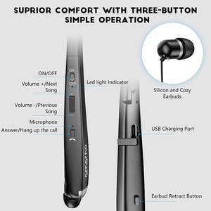 Image 4 - Amorno Wireless Bluetooth Earphones Stereo HD Talking Neckband Earbuds Sweatproof Headphone Fone De Ouvido Auriculares for Phone