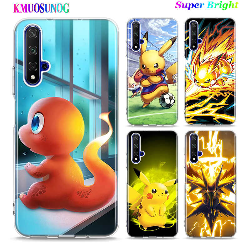 Silicone TPU Cover Pokemons Pikachu for Huawei Honor 10i 9X 8X 20 10 9 Lite 8 8A 7A 7C Pro Lite Phone Case