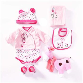 Reborn Baby Doll Girl Clothes 55 Cm For 20-23 Inch Reborn Dolls Clothing Outfit 7 Pieces Sets American Girl Doll Clothes warkings reborn