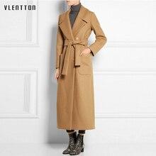 Winter Jacket Women 2019 Autumn Fashion Warm Wool Blends Coat Elegant Slim Thickening wool