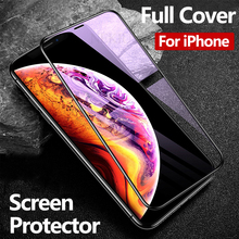 Luxury Tempered Glass For iPhone Xs Max Xr Screen Protector On 7 8 X 6 6s Protective Film Full Cover