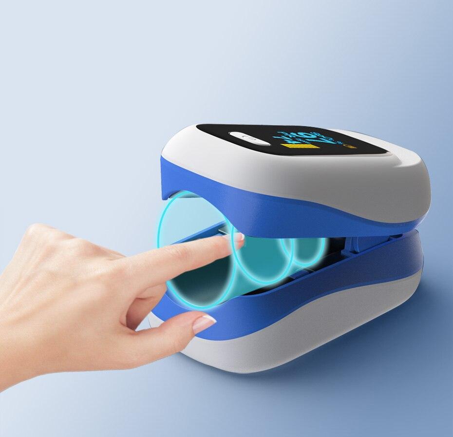 Бытовой Пальчиковый Пульсоксиметр цифровой OLED пульсоксиметр на палец De Dedo Oximetro SpO2 монитор здоровья измеритель насыщения кислорода в крови ...