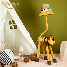 Christmas gift  Kids Lamp Creative Childrens Bedroom Lighting Animal Toy Lamp Kids Cartoon Floor lamps for living room Bedroom