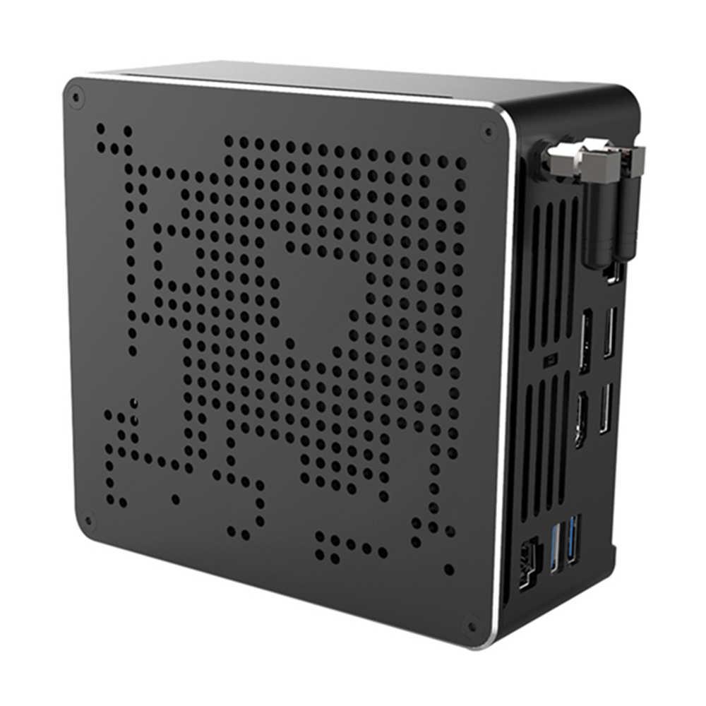 2 Lans Mini PC Intel Core i9 9880H 8 çekirdek 16 konu oyun masaüstü bilgisayar 2 * DDR4 2 * M.2 NVMe Win10 Pro 4K HTPC HDMI DP tipi C