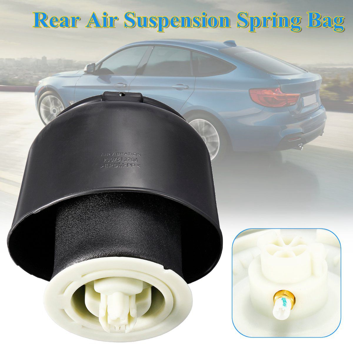 New Rear Air Suspension Spring Bellow Bag With Dust Cover Case For BMW F07 GT F10 F11 #37106781827 371067818 37106781828