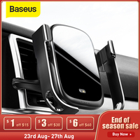 Baseus 15W Drahtlose Auto Ladegerät Auto Air Vent Halterung Halter Qi Drahtlose Ladegerät in Infrarot Sensor Drahtlose Lade Telefon halter