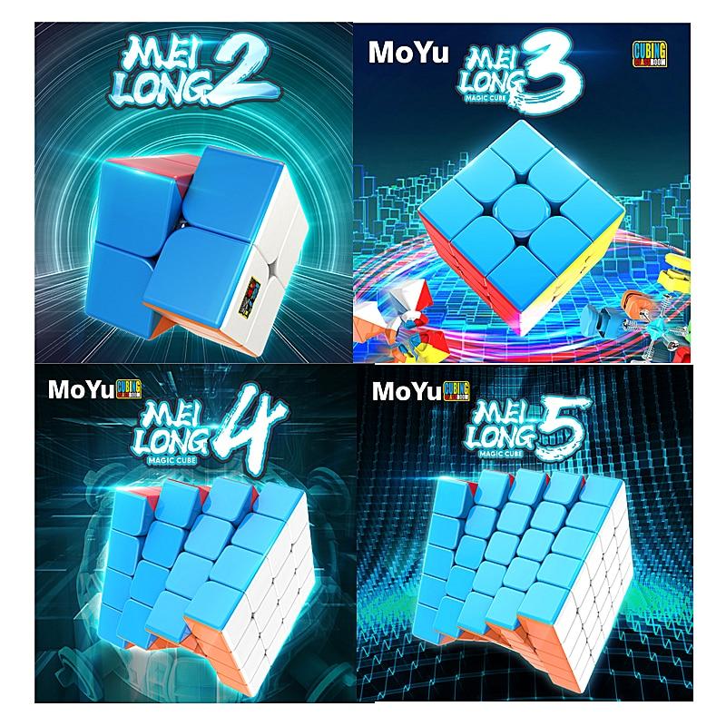 Moyu Cube Meilong 2x2x2 3x3x3 4x4x4 5x5x5 Magic Cube MEILONG 4x4 Speed Cube Classroom Education Toys Moyu 4x4 Puzzle Magic Cubo