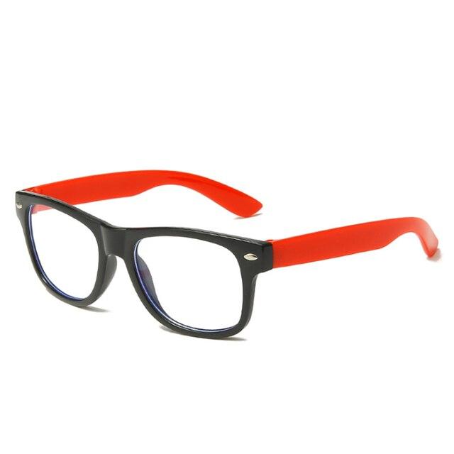 Фото анти синий светильник детские очки квадратная оптическая оправа