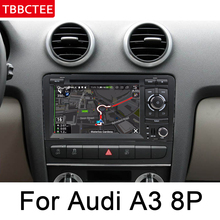 For Audi A3 8P S3 2003~2012 MMI HD IPS DSP Stereo Android Car DVD GPS Navi Map multimedia player radio WiFi BT System Head Unit цены онлайн