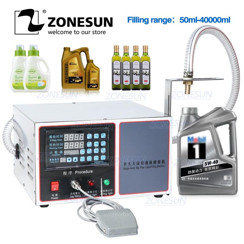 ZONESUN GZ-GFK17C Automatic Filling Machine Laundry Detergent Alcohol Juice Machine Oil Water Milk Liquid Bottle Filling Machine
