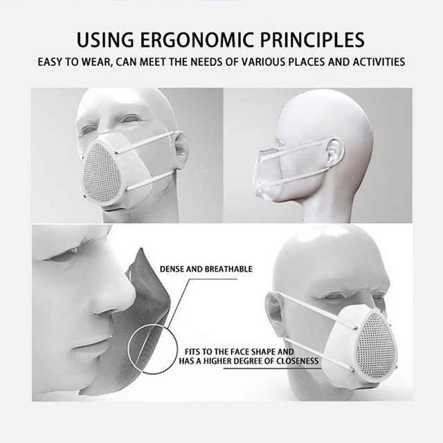 Anti flu Anti Virus Mask PM2.5 Anti Virus Haze Protective Dustproof Electric Filter Air Purification Mask Protective mask 3