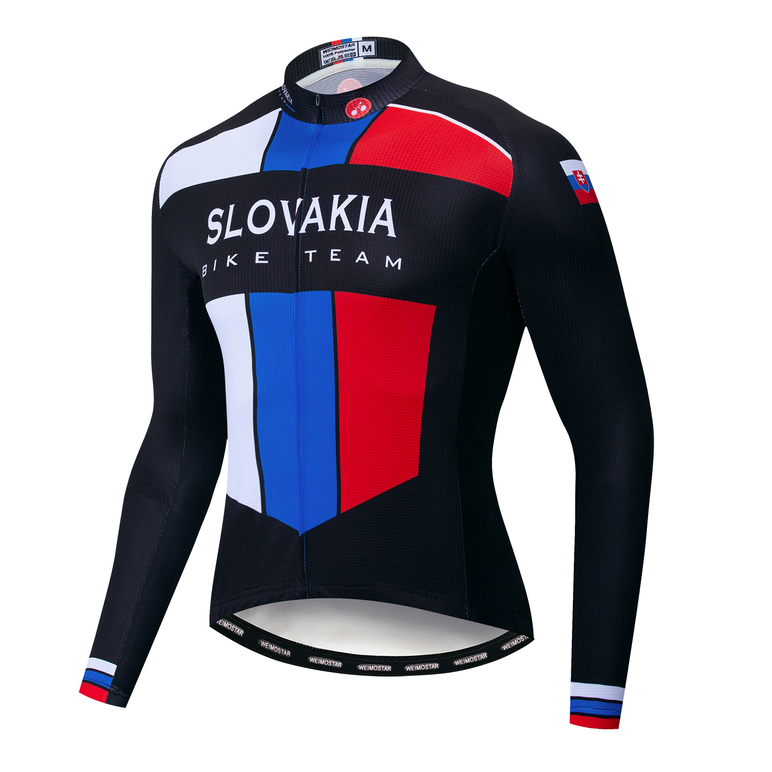 Bicycle Long Sleeve Cycling Jerseys Men Clothing Pro Team Outdoor Bike Clothing Ropa Ciclismo Red Sportswear Slovakia Flag Cycling Jerseys     - title=