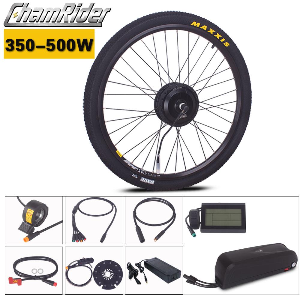 Chamrider e-bike Kit vélo électrique 350W 500W 36V 48V 52V batterie Hailong contrôleur intégré 17AH 20AH prise julette étanche
