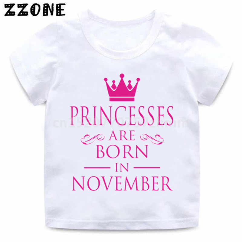 Personalised Prince Princess crown print your name kids shorts and t-shirt set