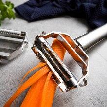 Aço inoxidável frutas legumes descascador multifuncional batata pepino cenoura peelers ralador de queijo cozinha ferramenta acessórios