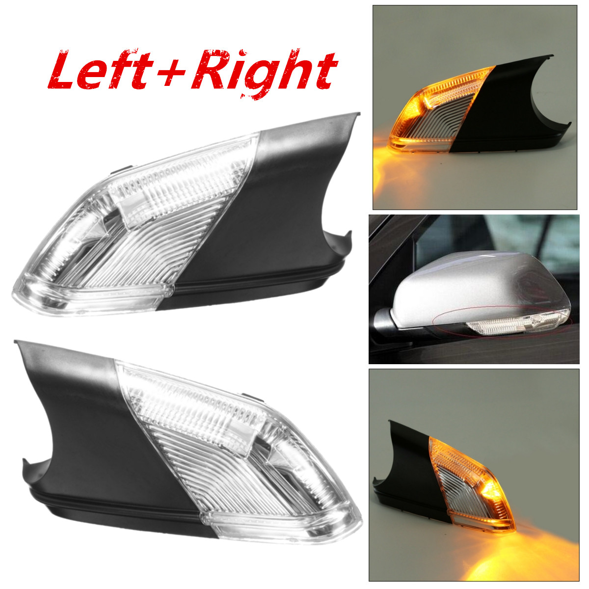 Left Right Side Wing Car Styling Rearview Mirror Turn Signal Light Indicator Lamps Bar Lighting For VW Polo Mk4 FL 2005-2009