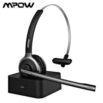 Mpow BH231A M5 Pro Bluetooth 4.1 słuchawki bezprzewodowy zestaw słuchawkowy z mikrofonem tłumiącym hałas słuchawki głośnomówiące do biura na zewnątrz