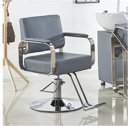 Simple Barber Shop Chair Net Red Haircut Chair Hairdresser Chair Stainless Steel Hairdressing Chair Lift Chair Shampoo Bed Bag