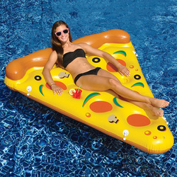 Piscine PVC eau gonflable Pizza flottant rangée Air lit adultes enfants flottant coussin de couchage lit chaise Sports nautiques
