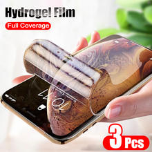 3pcs Screen Protector Hydrogel Film For iPhone 11 Pro X XR XS Max Soft Protective Film For iPhone 7 8 Plus 6 6s SE 2 Not Glass