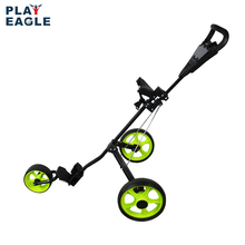 Golf Push Cart Lightweight 3 Wheels Foldable Golf Club Push Pull Cart Trolley Golf Pull Cart