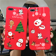 цена на Christmas Phone Case for iPhone 8 7 6 6s Plus Cases Cartoon Santa Tree Luxury Gift Soft Silicone Cover for iPhone X XS XR XS Max