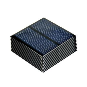 SUNYIMA 10 sztuk panele słoneczne polikrystaliczne 5 5V 80MA polikrystaliczne ogniwa słoneczne DIY ładowarka solarna System Sunpower 60*60MM tanie i dobre opinie Panel słoneczny Krzem polikrystaliczny None